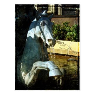 Neptune's Horse, Plaza Fountain Detail 2 Postcard