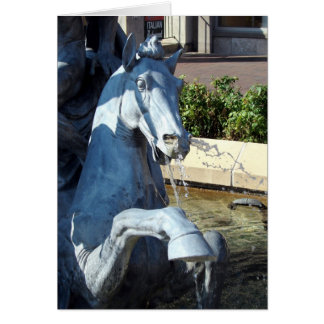 Neptune's Horse, Plaza Fountain Detail Card