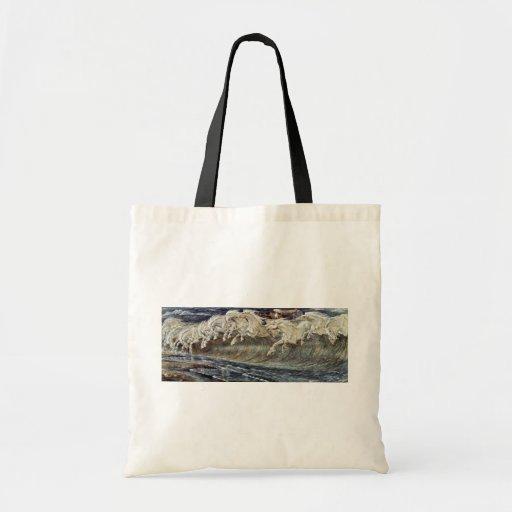 Neptune'S Horses By Crane Walter Canvas Bag