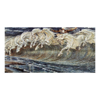 Neptune'S Horses By Crane Walter Photo Card Template
