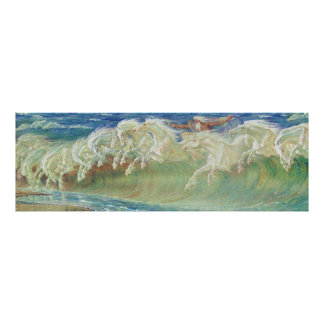 Neptune's Horses by Walter Crane Poster
