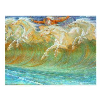 Neptune's Horses Postcard