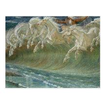 Neptunes Horses Postcard