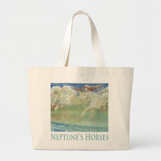 NEPTUNE'S HORSES RIDE THE WAVES CANVAS BAGS