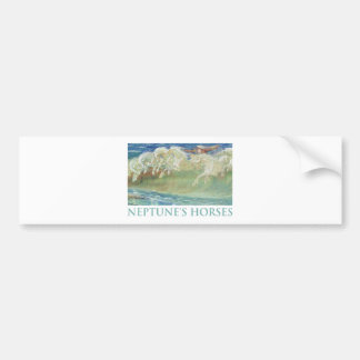 NEPTUNE'S HORSES RIDE THE WAVES BUMPER STICKER