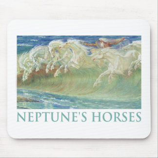 NEPTUNE'S HORSES RIDE THE WAVES MOUSE PAD