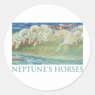 NEPTUNE'S HORSES RIDE THE WAVES STICKER
