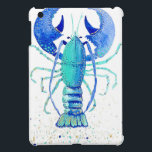 """Neptune&#39;s Lobster iPad Mini Case<br><div class=""""desc"""">This bright blue and gold lobster will brighten up your day</div>"""