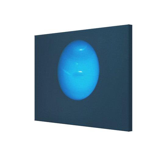Neptuno, atmósfera azulverde dinámica impresion de lienzo