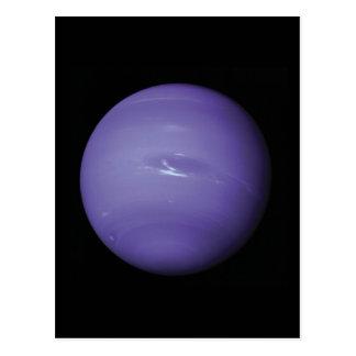 Neptuno azul hermoso, según lo visto de espacio, postales
