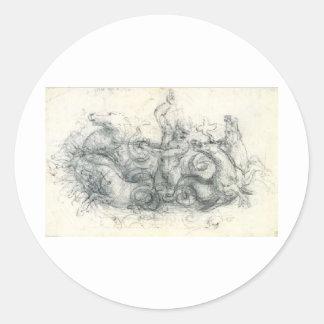 Neptuno Etiqueta Redonda