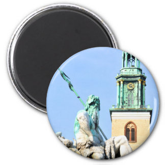 Neptun's fountain in Berlin, Germany 2 Inch Round Magnet