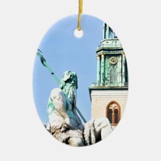 Neptun's fountain in Berlin, Germany Ceramic Ornament