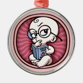 Nerby Baby Girl Inside Metal Ornament
