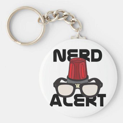 Nerd Alert! Basic Round Button Keychain
