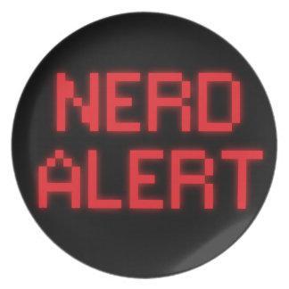 Nerd Alert Melamine Plate