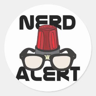 Nerd Alert! Round Sticker