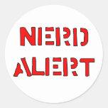 Nerd Alert Round Sticker
