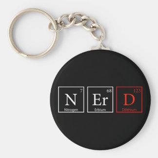 NErD and proud (Dark) Basic Round Button Keychain