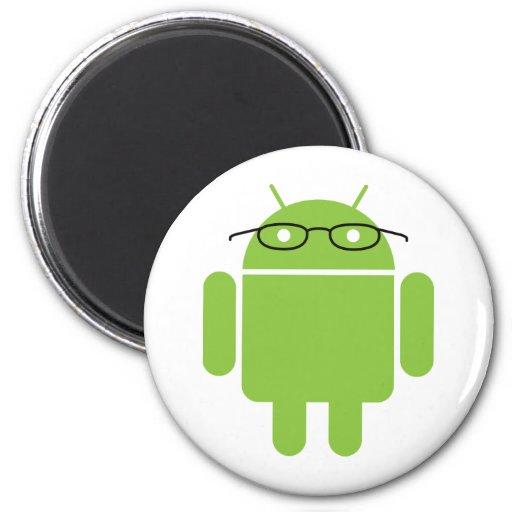 Nerd Android 2 Inch Round Magnet