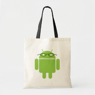 Nerd Android Budget Tote Bag