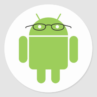 Nerd Android Classic Round Sticker
