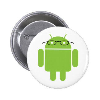 Nerd Android Pinback Button
