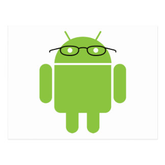 Nerd Android Postcard