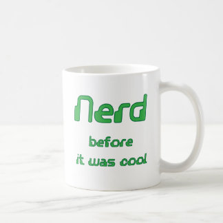 Nerd before it was cool Square format Coffee Mugs