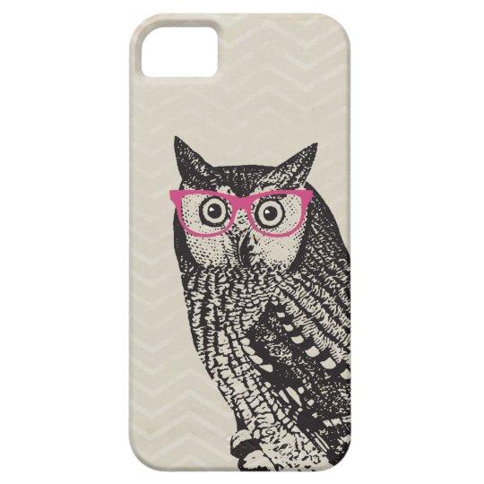 Nerd Bird Vintage Graphic Owl iPhone Case