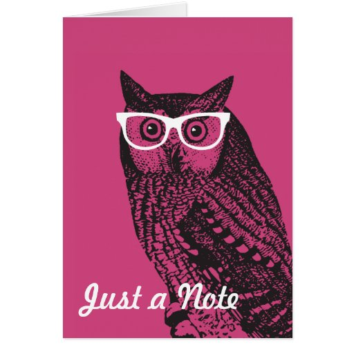 Nerd Bird Vintage Graphic Owl Notecards Stationery Note Card