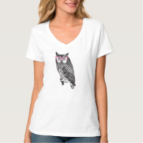 Nerd Bird Vintage Graphic Owl Tee