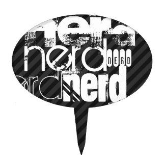 Nerd; Black & Dark Gray Stripes