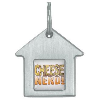 Nerd Blue Cheese Pet Name Tag