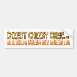 Nerd Blue Cheesy Bumper Sticker