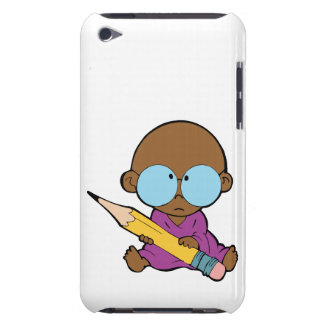 Nerd boy big glasses & pencil barely there iPod cases