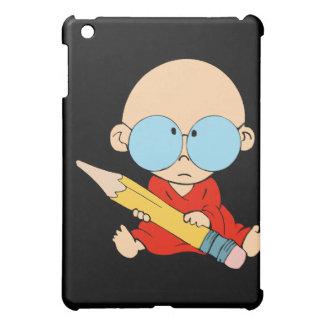 Nerd boy big glasses & pencil iPad mini cover