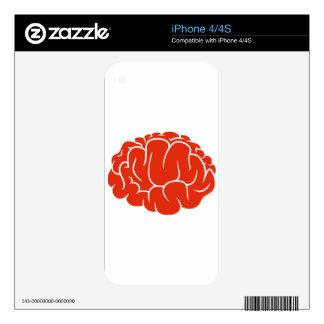 Nerd brain iPhone 4 skins