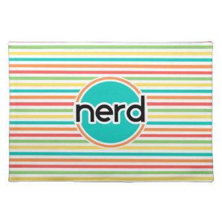 Nerd, Bright Rainbow Stripes Place Mat