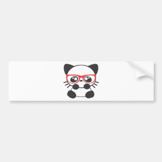 Nerd Cat Bumper Sticker