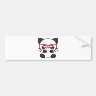 Nerd Cat Car Bumper Sticker
