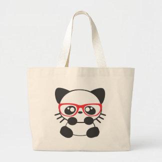 Nerd Cat Large Tote Bag
