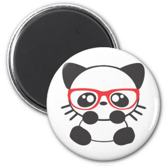 Nerd Cat Refrigerator Magnet