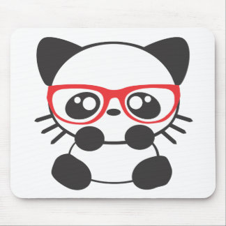Nerd Cat Mouse Pad