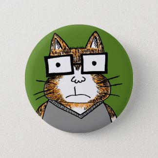 Nerd Cat Pinback Button