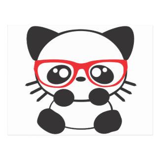 Nerd Cat Postcard