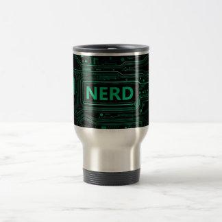 Nerd concept. travel mug