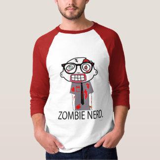 Nerd. del zombi playera