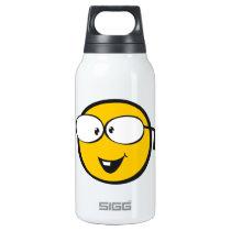Nerd Emoji Thermos Water Bottle