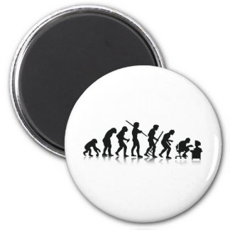 Nerd Evolution 2 Inch Round Magnet